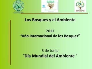 """Los Bosques y el Ambiente 2011 """"Año Internacional de los Bosques"""" 5 de Junio"""