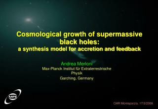 Cosmological growth of supermassive black holes:  a synthesis model for accretion and feedback