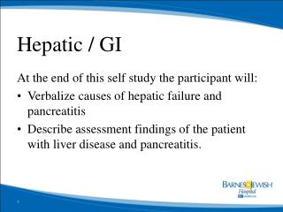 Hepatic / GI