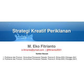 Strategi Kreatif Periklanan