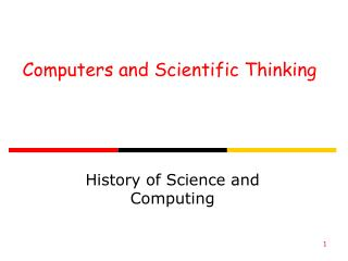 Computers and Scientific Thinking