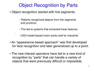 Object Recognition by Parts