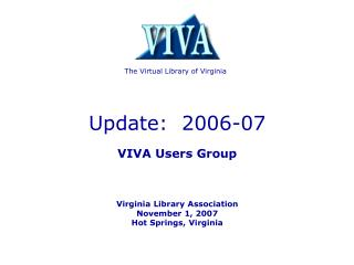 The Virtual Library of Virginia