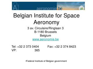 Belgian Institute for Space Aeronomy