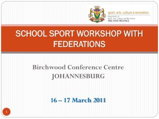 SCHOOL SPORT WORKSHOP WITH FEDERATIONS