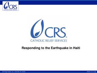 Responding to the Earthquake in Haiti