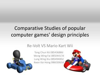 Comparative Studies of popular computer games' design principles