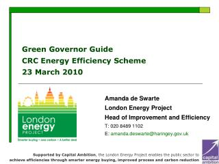 Green Governor Guide CRC Energy Efficiency Scheme 23 March 2010