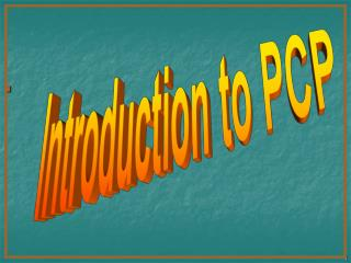 Introduction to PCP