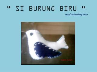 """""""  SI BURUNG BIRU  """""""