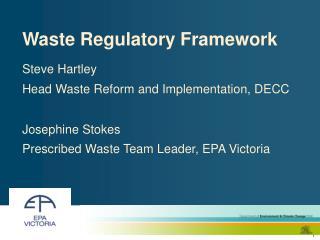Waste Regulatory Framework