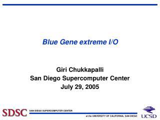 Blue Gene extreme I/O