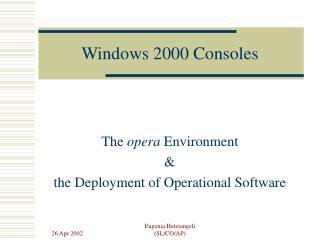 Windows 2000 Consoles