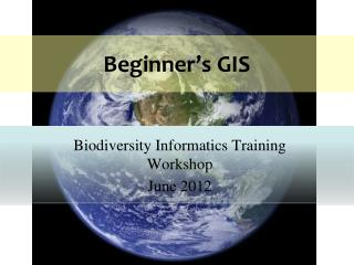 Beginner's GIS