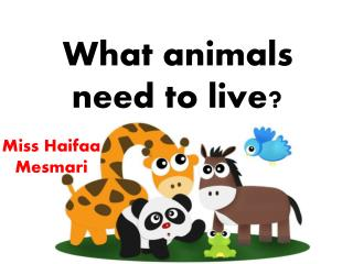 What animals need to live?