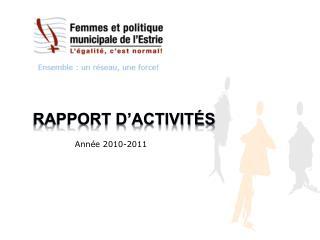 Rapport d activit s