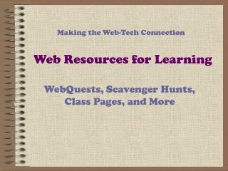Web Resources for Learning