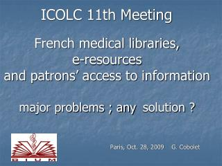 ICOLC 11th Meeting