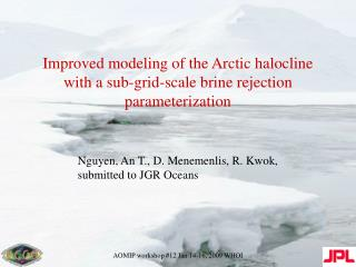 Improved modeling of the Arctic halocline with a sub-grid-scale brine rejection parameterization