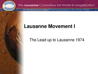Lausanne Movement I