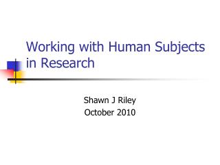 an introduction to the office of human research protection Home / irb and the office of human research ethics / introduction to human  research subject  introduction to human research subject protection at unc .