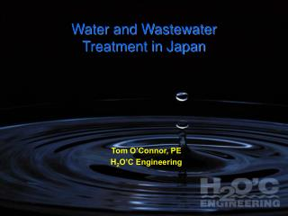 Water and Wastewater Treatment in Japan