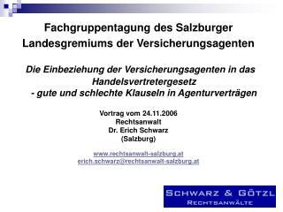 Fachgruppentagung des Salzburger Landesgremiums der Versicherungsagenten