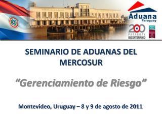 SEMINARIO DE ADUANAS DEL MERCOSUR