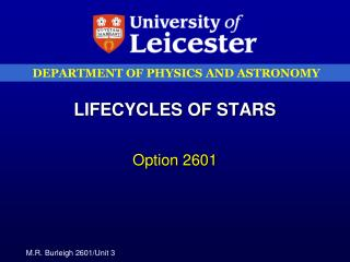 LIFECYCLES OF STARS