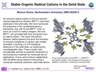Stable Organic Radical Cations in the Solid State