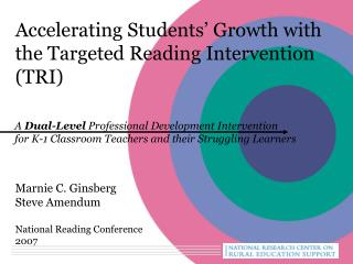 Accelerating Students  Growth with the Targeted Reading Intervention TRI