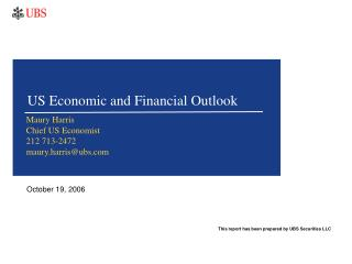 US Economic and Financial Outlook