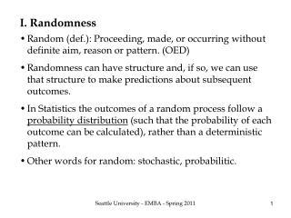 I. Randomness
