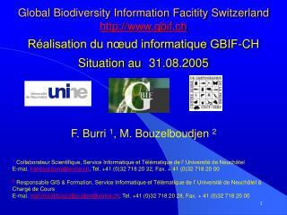 F. Burri  1 , M. Bouzelboudjen  2