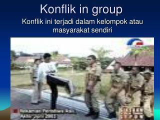 Konflik in group