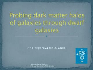 Probing dark matter halos of galaxies through dwarf galaxies