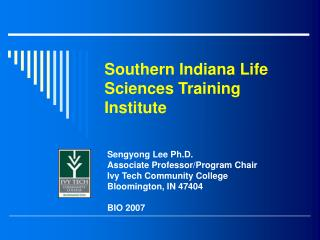 Southern Indiana Life Sciences Training Institute