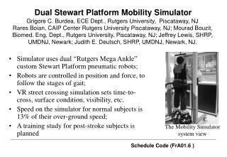 Dual Stewart Platform Mobility Simulator