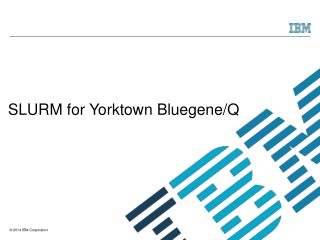 SLURM for Yorktown Bluegene/Q