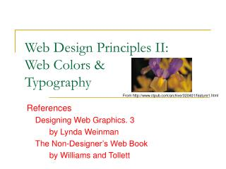 Web Design Principles II: Web Colors &  Typography