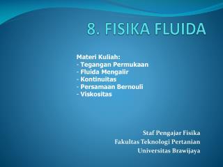 8. FISIKA FLUIDA