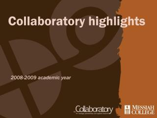 Collaboratory highlights