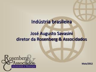 Indústria brasileira José Augusto Savasini diretor da Rosenberg &  Associdados