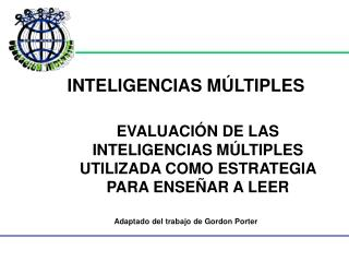 INTELIGENCIAS M�LTIPLES