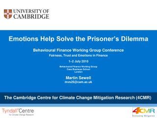 Emotions Help Solve the Prisoner's Dilemma