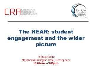 The HEAR: student engagement and the wider picture