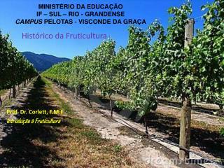 Prof. Dr. Corlett, F.M.F Introdu��o � Fruticultura