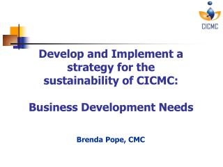 Brenda Pope, CMC