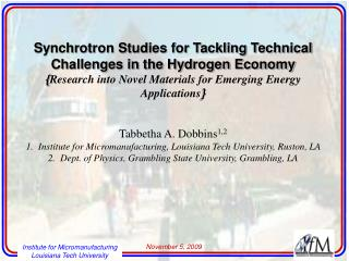 Synchrotron Studies for Tackling Technical Challenges in the Hydrogen Economy