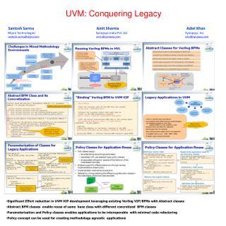 UVM: Conquering Legacy